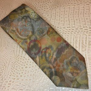 Green Oscar de la Renta Abstract Tie